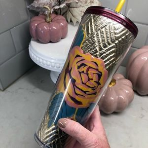 Pretty Fall Floral Cold Cup